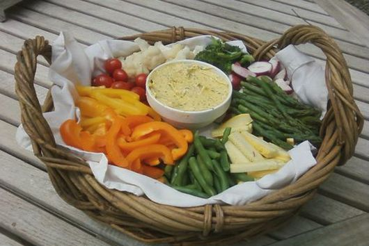 Vegetables with garlic-herb aioli