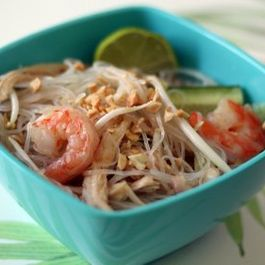Thai Noodle Salad with Turkey and Shrimp