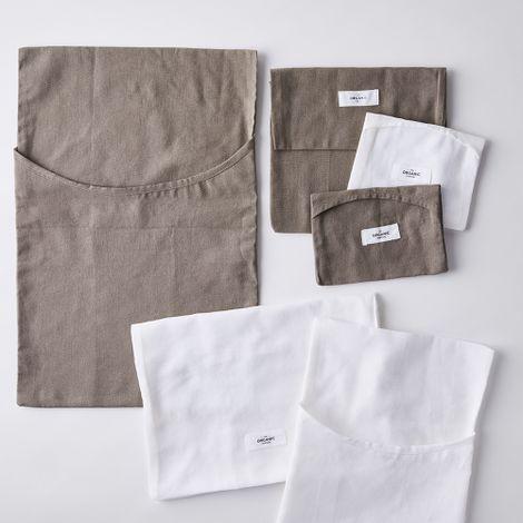 Organic Cotton Washing Laundry Bags (Set of 3)