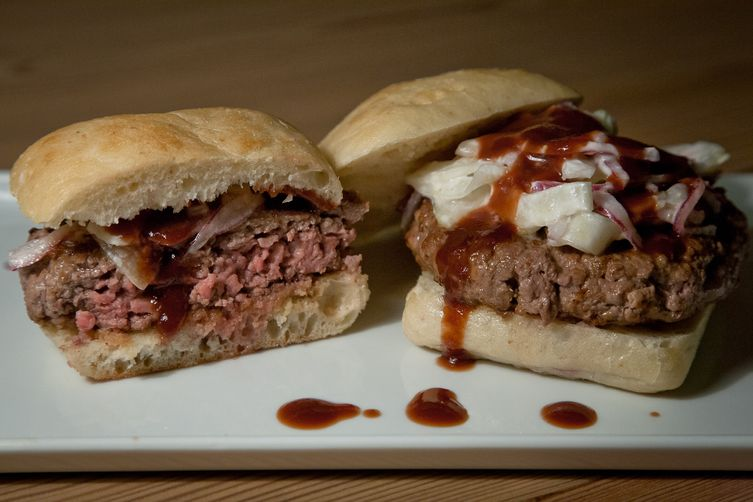 Lamb Burger with Fennel Cucumber Relish & Pomegranate Ketchup