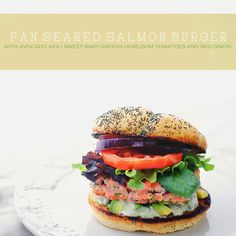 Salmon Burger with Avocado Aioli