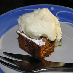 An easy, quick, kicked-up tomato soup cake