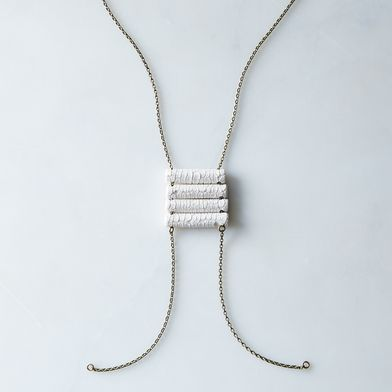 4-Log Porcelain Bead Necklace