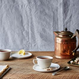 Porcelain Tea Cups & Saucers (Set of 2)