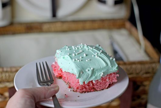 One Bowl Watermelon Sheet Cake