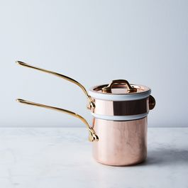Mauviel M'Tradition Copper Bain Marie with Bronze Handles, 0.8QT