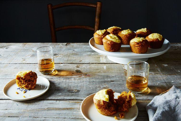 Boozy Belly Pumpkin Cupcakes