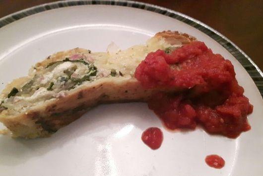 Spiral Pie with Spinach & Pesto