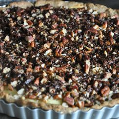 Ricotta Filled Chocolate and Pecan Tart