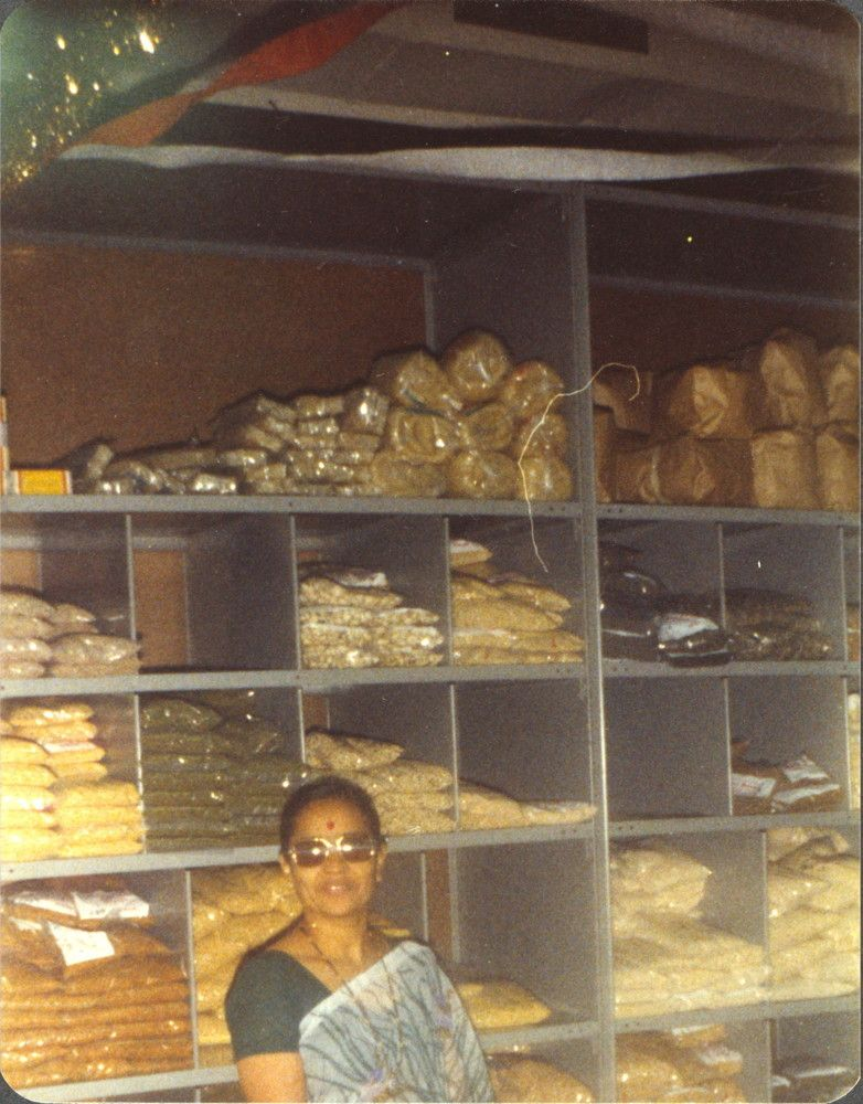 The Patel Brothers store in Chicago in the 1970s.
