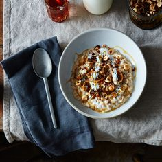 Fermented Oatmeal with Hazelnuts, Figs, Honey, Black Pepper, and Buttermilk