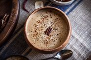 Roasted Pecan and Acorn Squash Soup