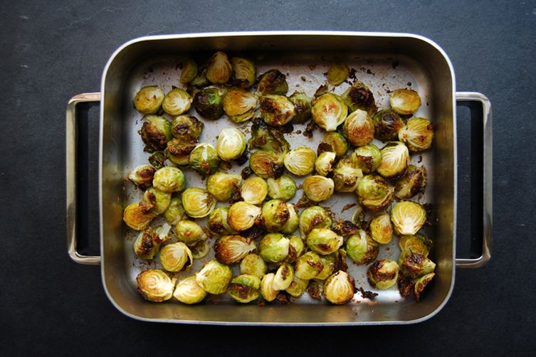 Roasted Ginger Lemon Brussels Sprouts