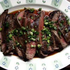Ginger Soy Marinated Flank Steak