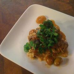 Spicy Lamb Stew with Date, Mint and Parsley Gremolata