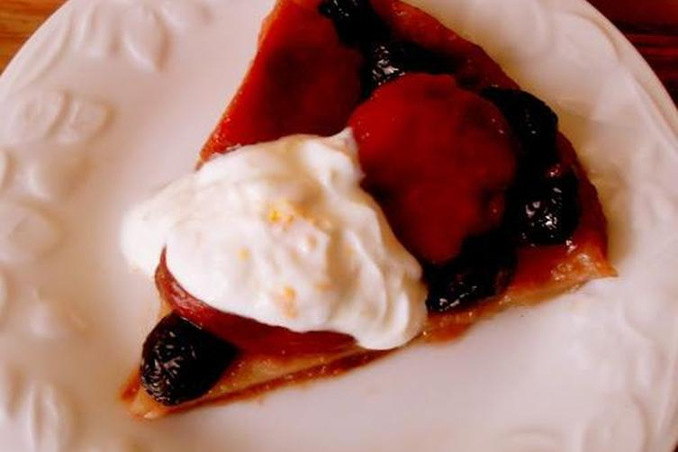 Fuyu Persimmon and Cranberry Tarte Tatin