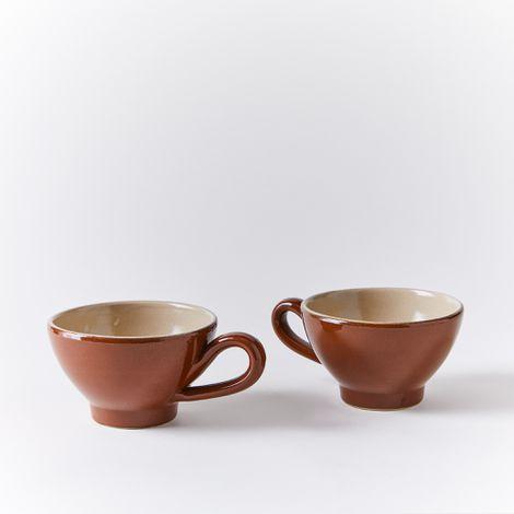 Vintage French Stoneware Teacup (Set of 2)
