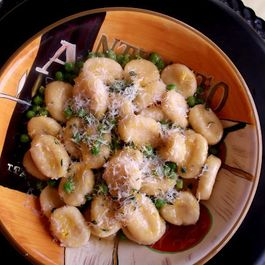Ricotta-Feta Gnocchi Tossed in Maple-Brown-Butter and Sweet Peas Sauce