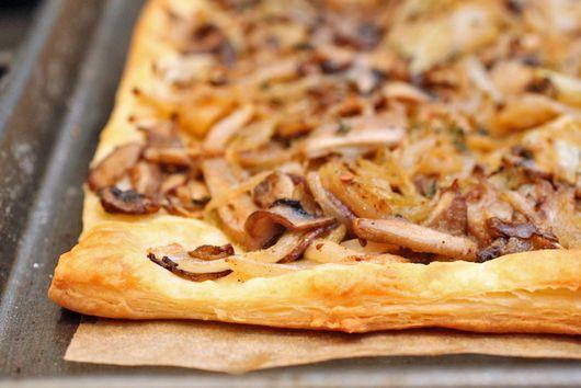 Mushroom and Ajwain Pissaladière