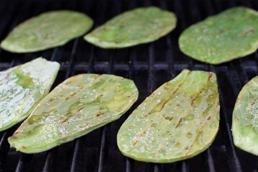 Grilled Cactus Paddles (Nopales)