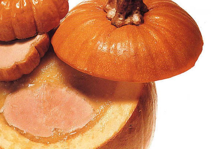 D'Artagnan's Foie Gras in a Pumpkin Terrine & Foie Gras Mousse in Baby Pumpkins