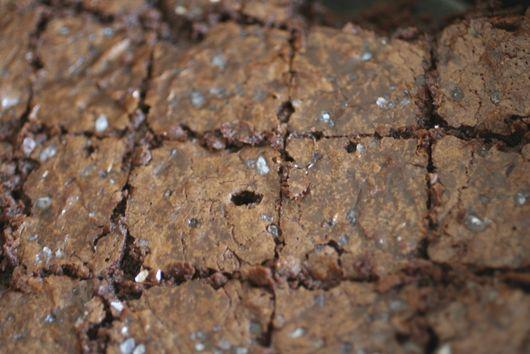 Mocha Brownies with Sea Salt