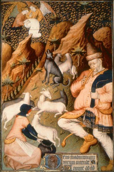 Shepherdess in apron