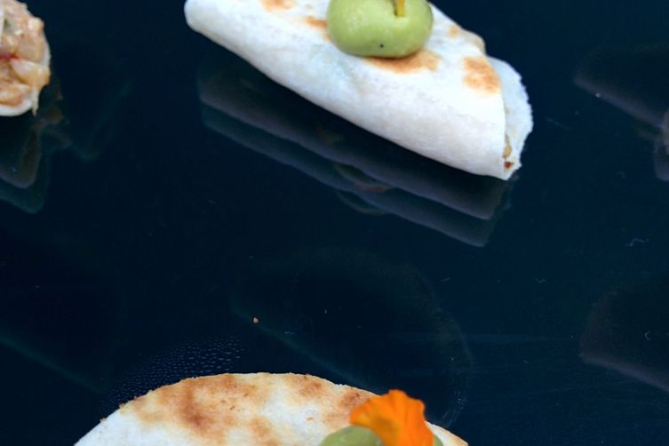 Mini Duck Quesadillas w/Avocado Crema