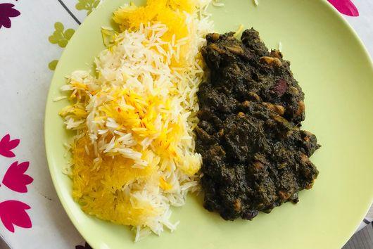 Vegetarian Ghormeh Sabzi for times of plague