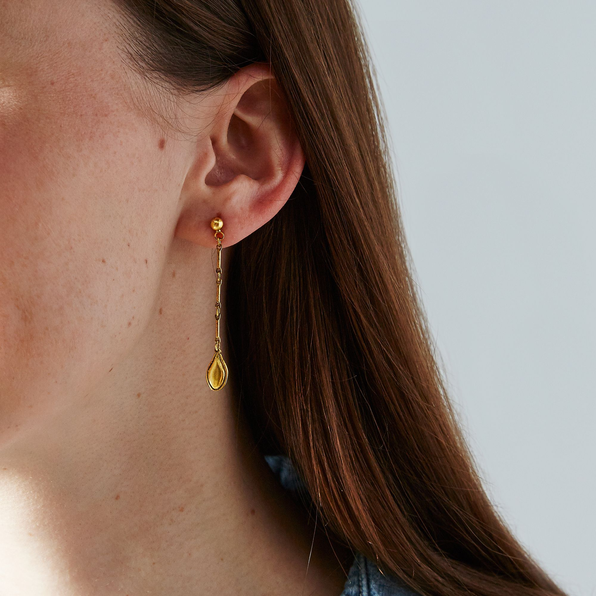 saturn earrings white earring charlotte chesnais moda single loading large by xs operandi