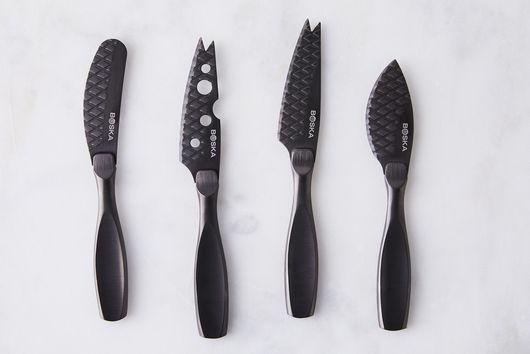 Matte Black Cheese Knife Set (4-Piece)