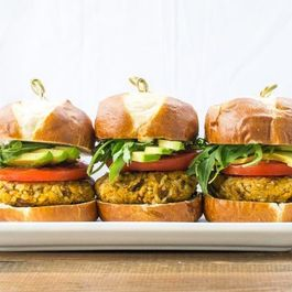 SWEET POTATO RICE BURGERS
