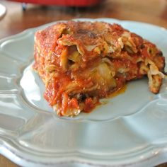 spinach, eggplant and zucchini lasagna