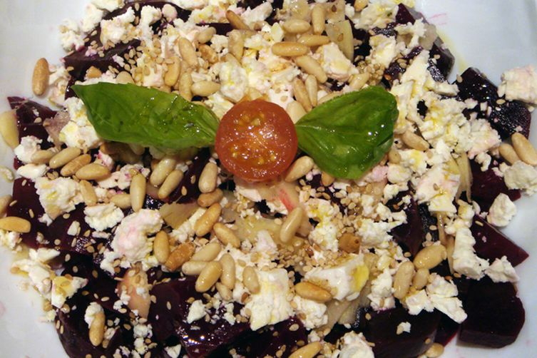 Roasted Beetroot Salad with Blue Cheese and Honey