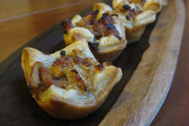 Sausage Puffs with Apple, Cheddar and Sage