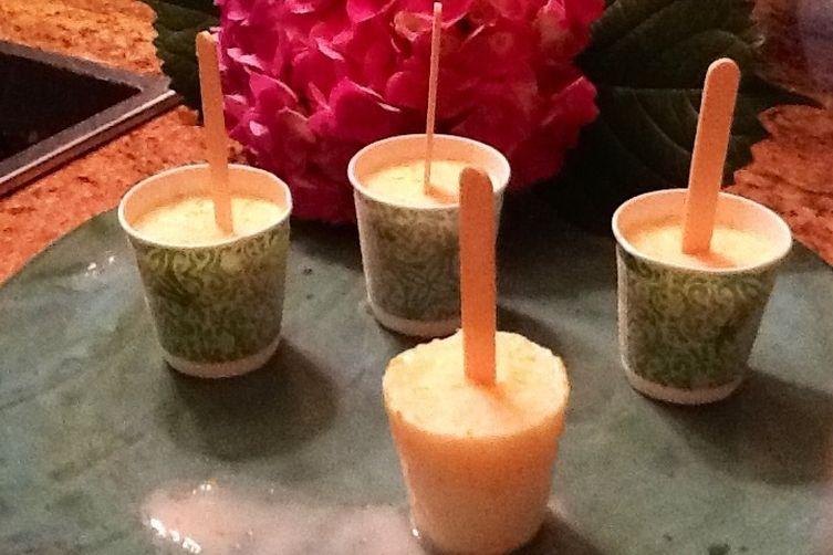 Easy Amaretto Pineapple Ice Pops