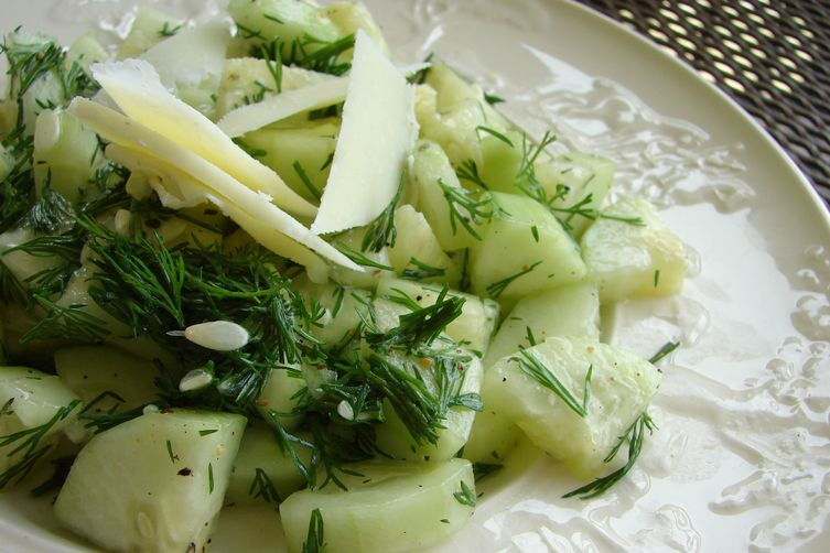 Dill Cucumber Salad with Shaved Machego