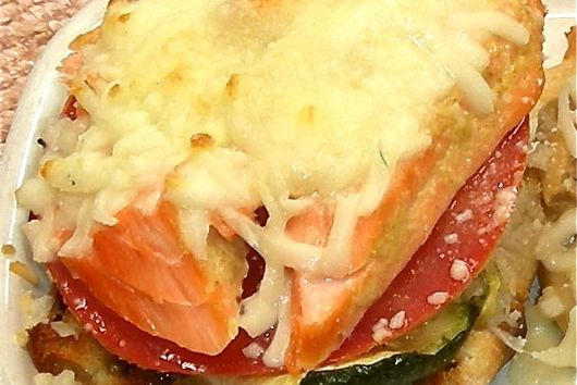 Salmon Zucchini Melts with Dill Butter