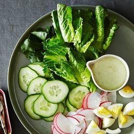 Green Green Dressing with a Little Salad
