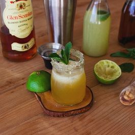 Scotch Sour with Mint-Infused Brown Sugar Syrup
