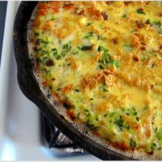 Zucchini Frittata with Fresh Basil and Parsley