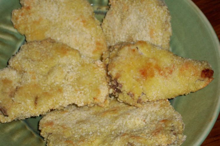 "Oven  ""fried"" pork tenderloin medallions"