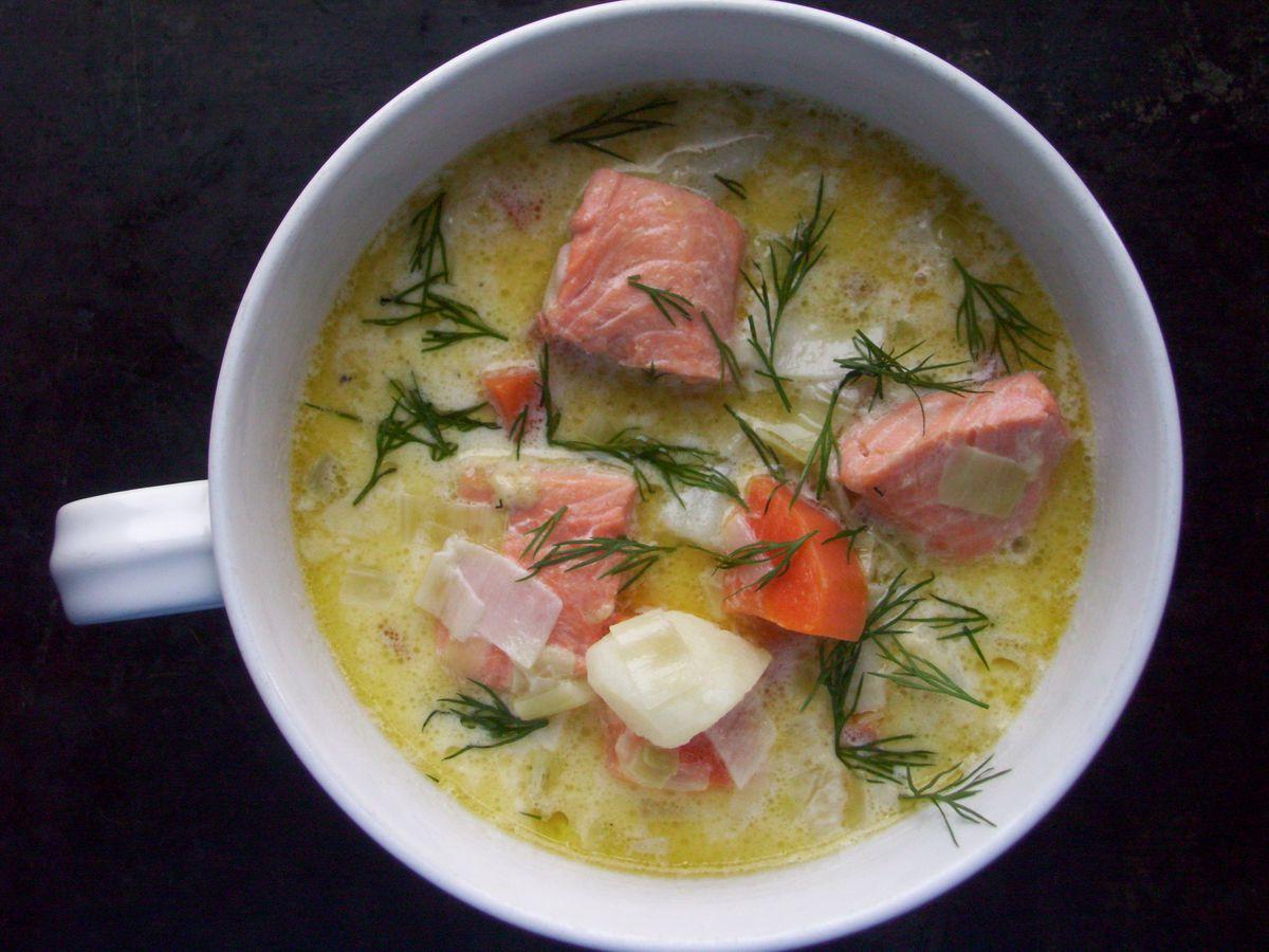 Lohikeitto - Finnish salmon soup Recipe on Food52