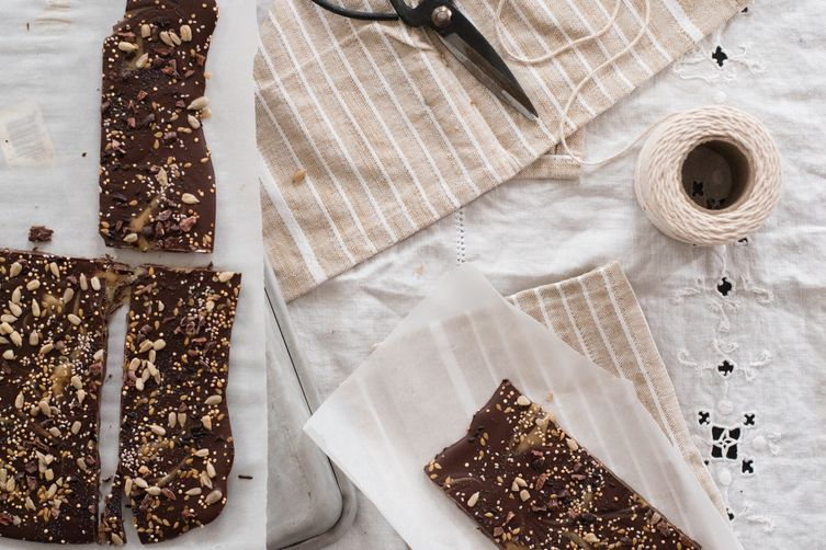 Seeded Honey Chocolate Bars