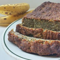 Almond Flour Banana Bread with Flaxseed and Coconut