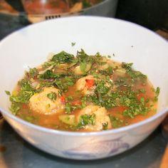Chicken and Plantain Dumpling Soup (Caldo de Bolas)