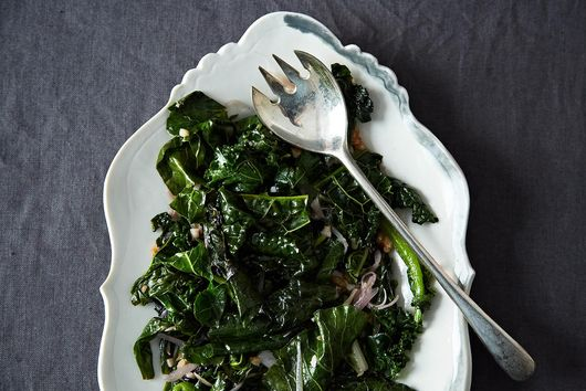 Matzo Brei + Sautéed Greens
