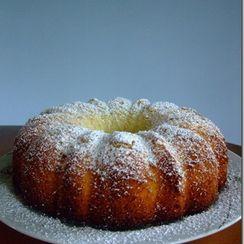 Lemon Chiffon Cake with Yoghurt Custard