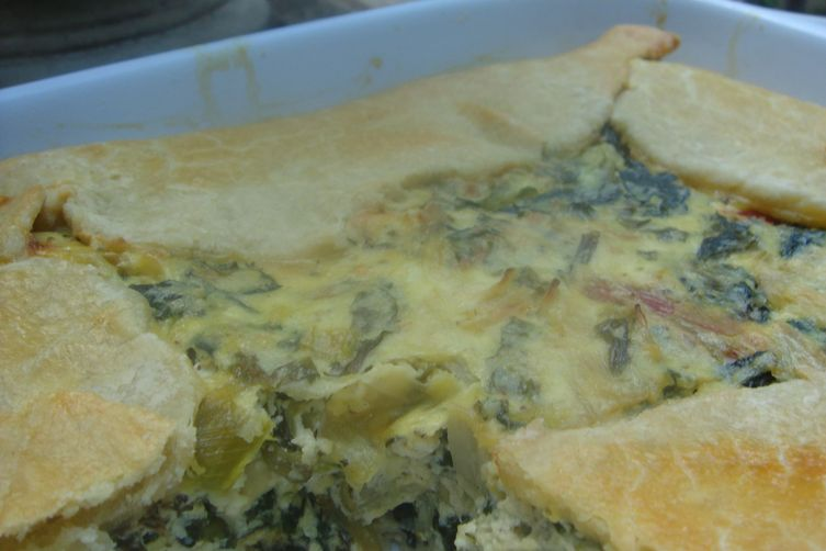 Crostata With Mixed Greens