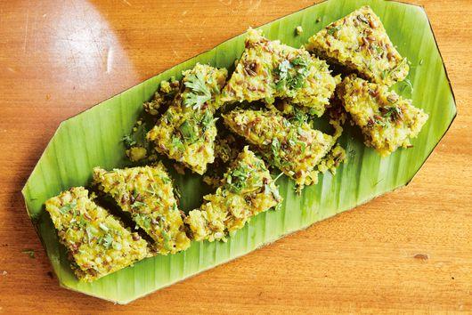 Khaman Dhokla (Fermented Chickpea Flour Cakes) From Maneet Chauhan & Jody Eddy